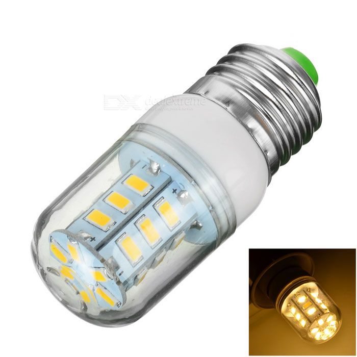 GCD MT E27 4W 280lm 3500K 24-SMD 5730 LED Warm White Light Lamp Bulb - White (AC 220~240V)