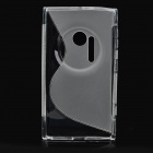 Stylish Protective Silicone Back Case for Nokia Lumia 1020 - Translucent White