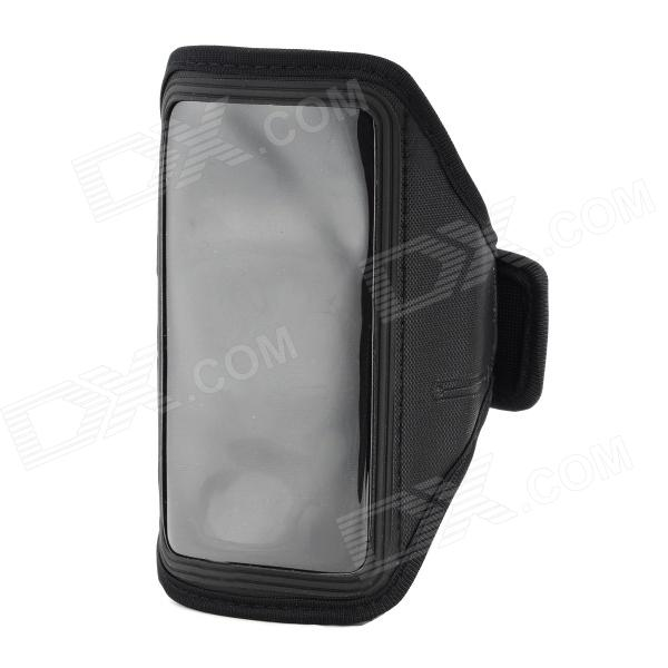 Convenient Diving Fabric Arm Bag w/ Transparent Window for Motorola X Phone - Black