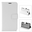 Lychee Grain Style Protective PU Leather Case for Samsung Galaxy S4 Active i9295 - White