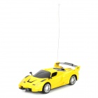 HONGYANG CJSL13003 1:24 Electromotion Wireless 2-channel Remote Control Car Model - Yellow + Black