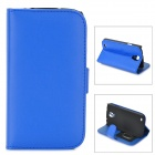 Stylish Protective PU Leather Case for Samsung i9295 - Blue