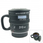 Matt Ceramic Lens Cup - Black (310mL)