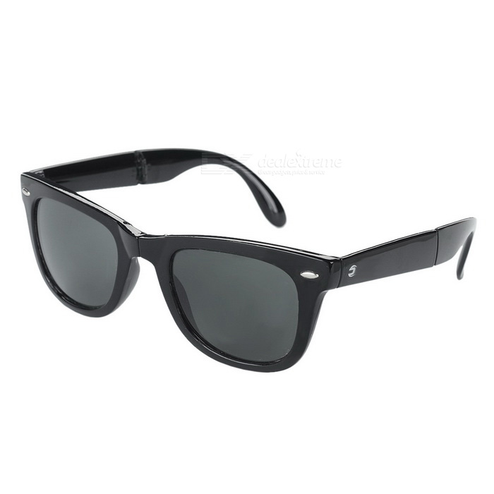 OREKA S720 UV400 Protection Foldable Polarized Resin Lens Sunglasses - Black + Dark Green