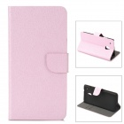 Stylish Protective PU Leather Case for HTC M7 Mini M4 - Light Pink