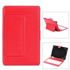 "Protective Bluetooth v3.0 80-Key Keyboard PU Leather Case w/ Back Holder for 7~8"" Tablet PC - Red"
