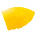 Adhesive Reflective PVC Strip for Cycling Helmet - Yellow (8 PCS)