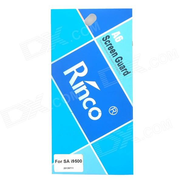 RINCO Protective Clear Screen Protector Film Guard for Samsung Galaxy S4 i9500 - Transparent pudini protective 0 4mm tempered glass screen protector guard film for samsung galaxy s4 i9500