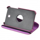 "Protective 360 Degree Rotation PU Leather Case for Samsung P3200 7"" - Purple"