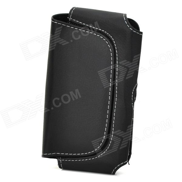 Protective PU Leather Case w/ Belt Clip for Motorola X Phone / HTC One M7 / Sony / Samsung - Black 3200mah backup battery case w holder for htc one m7 801e black