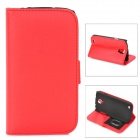 Stylish Protective PU Leather Case for Samsung i9295 - Red