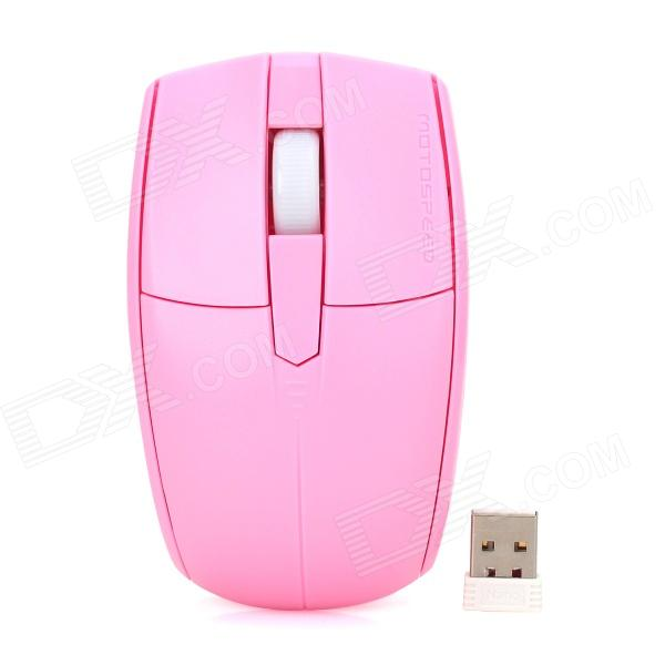 Motospeed G370 Stylish 2.4GHz 1000DPI Wireless Optical Mouse - Pink (2 x AAA)