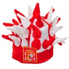 Funny Hedgehog Style Lint Hat Cap for Party / Fans / Cheering Squads - White + Red