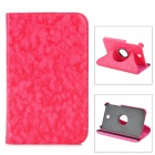"Protective 360 Degree Rotation PU Leather Case for Samsung P3200 7"" - Red"