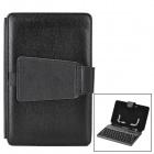 "Ultra-Thin USB 80-Key Keyboard PU Leather Case for Samsung or other 7"" Tablet PC - Black"