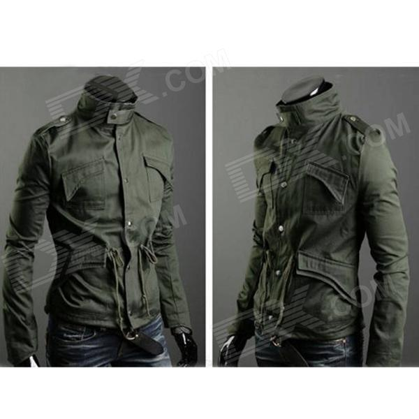 Fashion Cotton Jacket Coat for Men - Army Green (L)