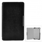 Protective PU Leather Auto Sleep Case for Google Nexus 7 II - Black + Silver