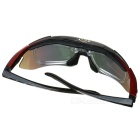 OBAOLAY SP0868 Sporty Goggles + Replacement Lenses for Cycling & Outdoor Exercises - Black + Red