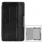 Protective PU Leather Auto Sleep Case for Google Nexus 7 II - Black + Blue