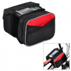 Yongruih XK01 Handy Water Resistant 600D Nylon Saddle Bag w/ Phone Touch Screen for Bicycle - Black
