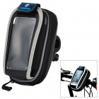 YONGRUIH AB1 PVC + EVA Hard Shell Case Bag w/ Cellphone Touch Screen Pocket for Bicycle - Black