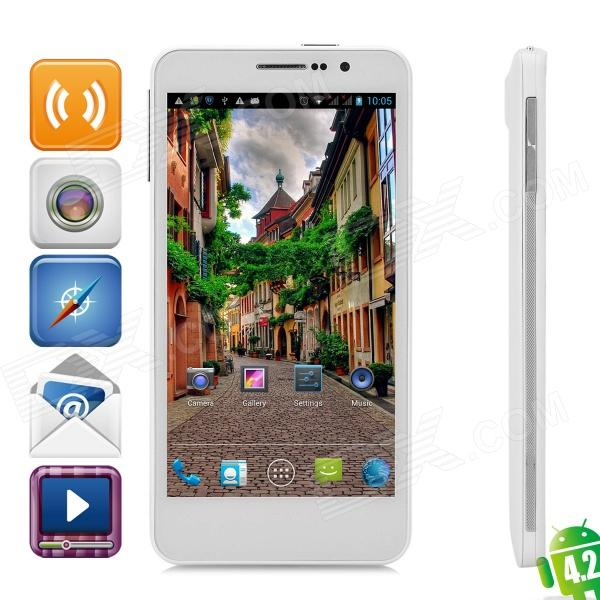 "Utime FX Quad-Core Android 4.2 WCDMA Bar Phone w/ 5.0"" OGS IPS, Wi-Fi, GPS and FM - White"