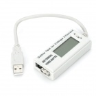 USB Terminal Power Adapter Voltage Current Tester - Grey + Black