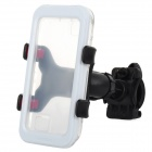 Convenient Bike Mounted Water Resistant Cellphone Case w/ Holder Set for Iphone 4S / 4 / 5 - White
