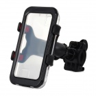 Convenient Bike Mounted Water Resistant Cellphone Case w/ Holder Set for Iphone 4S / 4 / 5 - Black