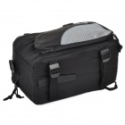ROSWHEEL 14236 Outdoor Cycling Extendable Nylon Bike Back Bag w/ Shoulder Strap - Silver + Black