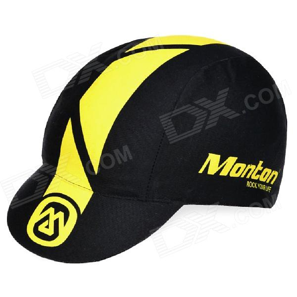Monton Stylish UV Protection Cotton + Spandex  Cycling Cap Hat - Black + Yellow trendy cotton fedora hat cap black