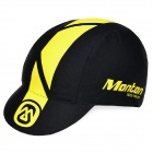 Monton Stylish UV Protection Cotton + Spandex  Cycling Cap Hat - Black + Yellow