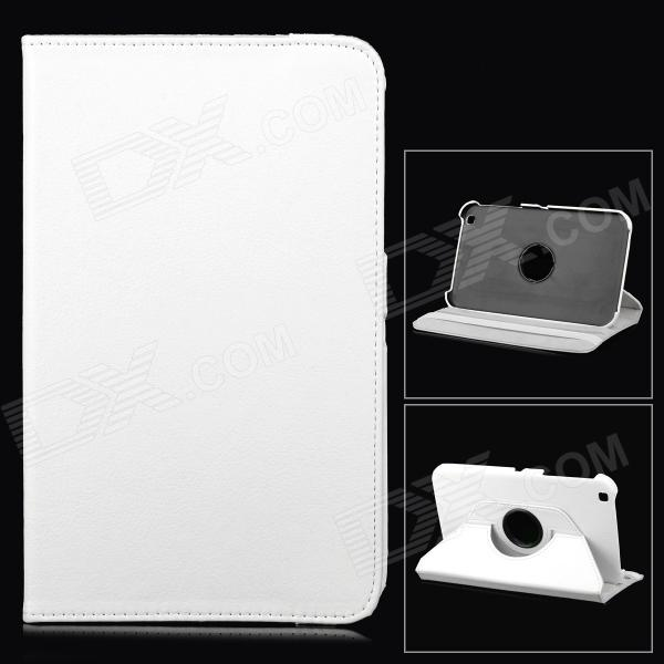 Protective 360 Degree Rotation PU Leather Case for Samsung T310 - White protective 360 degree rotation pu leather case for samsung p6220 brown