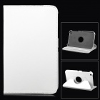 Protective 360 Degree Rotation PU Leather Case for Samsung T310 - White