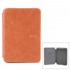 Stilvoller Schutz Crazy Horse Leather Case w / LED Leselampe für Amazon Kindle 5 - Braun