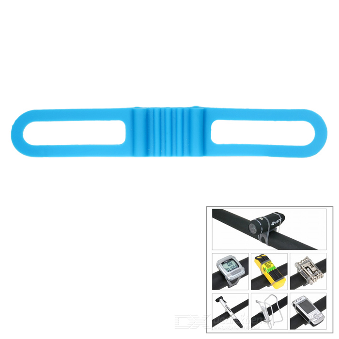Lichao 8112702 Durable Elastic Silicone Rubber Fastener Strap Band for Bike - Blue