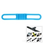 Lichao Durable Elastic Silicone Rubber Fastener Strap Band for Bike - Blue