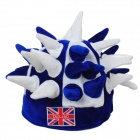 Funny Hedgehog Style Lint Hat Cap for Party / Fans / Cheering Squads - White + Blue