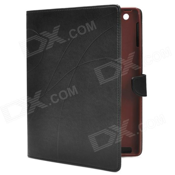 Universal Protective PU Leather Case for Ipad 2 / 3 / 4 - Black