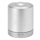 T-2020 Portable Mini Media Player Speaker w/ TF / FM - Silver