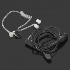 Anti-noise Throat Sense Air Conducting Headphone w/ Microphone for Interphone - Black + Transparent