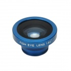 Universal Clip-On 180 Degree Fish Eye Lens for Iphone + Samsung + More - Blue