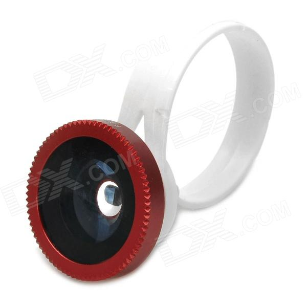 LX-C001 Universal Clip-On 180 Degree Fish Eye Lens for Iphone + Samsung + More - Red чехол флип кейс promate tama i6 чёрный page 2