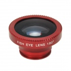 Universal Clip-On 180 Degree Fish Eye Lens for Iphone + Samsung + More - Red