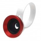 LX-C002 Universal Clip-On Wide Angle Lens for Iphone + Samsung + More - Red