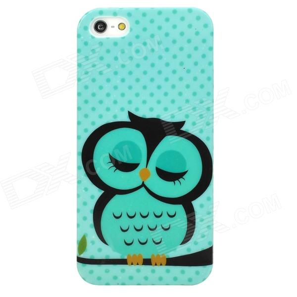 Cute Owl Pattern Stylish TPU Back Case for Iphone 5 - Multicolored cute owl pattern stylish tpu back case for iphone 5 multicolored