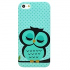 Cute Owl Pattern Stylish TPU Back Case for Iphone 5 - Multicolored