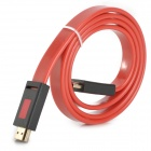 HDMI 1.4 Male to Male 3D 1080p HD Flat Cable - Red + Black (1m)