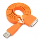JTX USB Male to 30 Pin Flat Charging Data Cable for iPhone 4 / 4S - Orange (100 CM)
