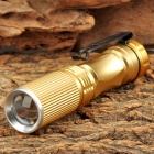 803 50lm 3-Mode White Zooming Flashlight w/ CREE XP-E Q5 - Golden (1 x AA)